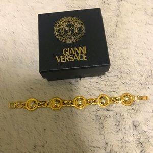 Stunning Authentic Versace gold bracelet